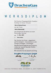 Drachengas - Werksdiplom - Ronny Kraus